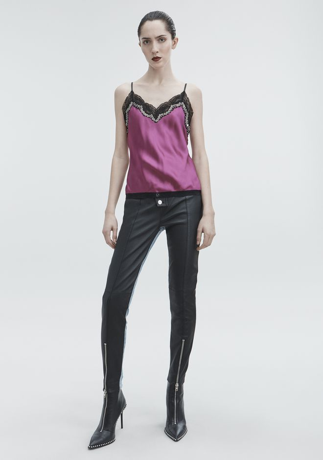 ALEXANDER WANG SATIN CAMI TOP  12_n_f