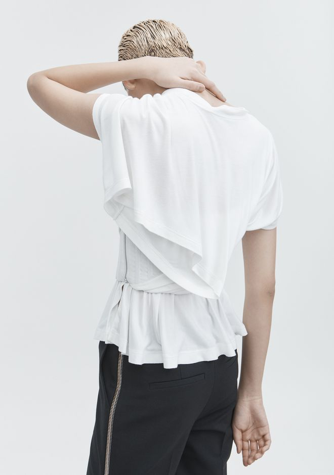 ALEXANDER WANG TWISTED CORSET TEE TOPS Adult 12_n_d