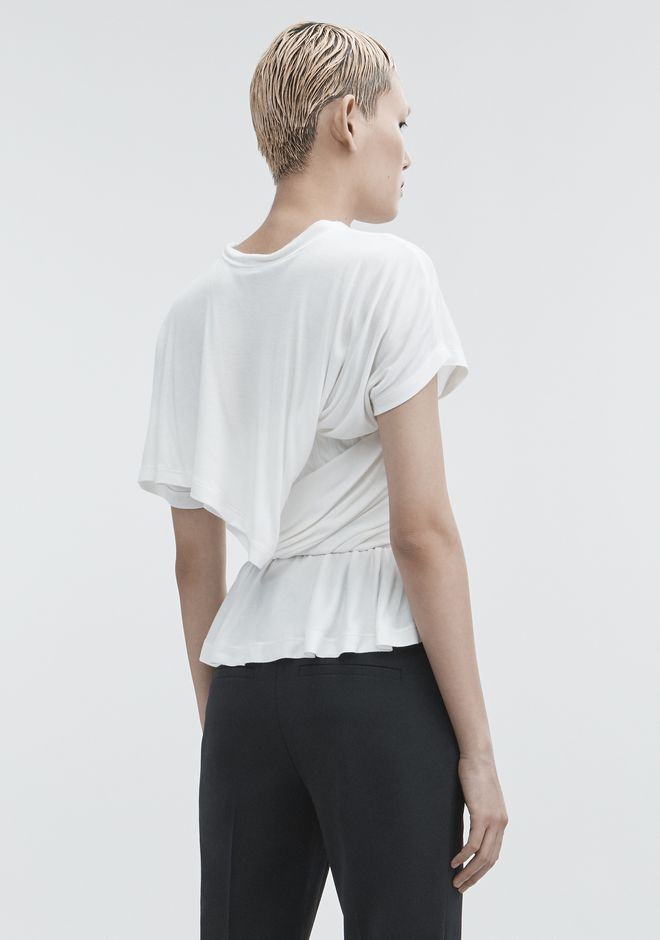 ALEXANDER WANG TWISTED CORSET TEE TOP Adult 12_n_r