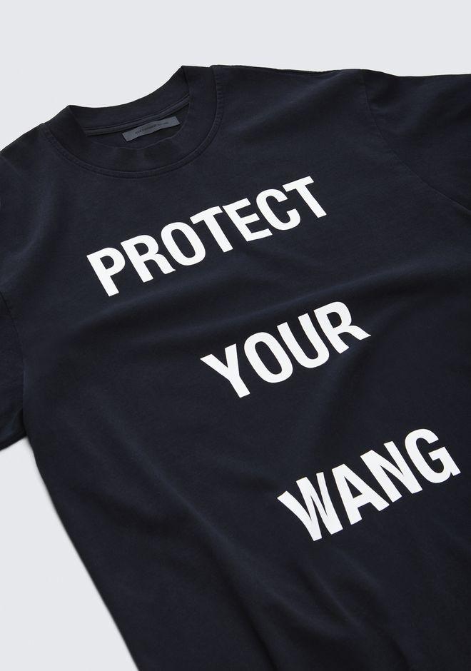 ALEXANDER WANG ALEXANDER WANG X TROJAN PROTECT YOUR WANG TEE  TOP Adult 12_n_r