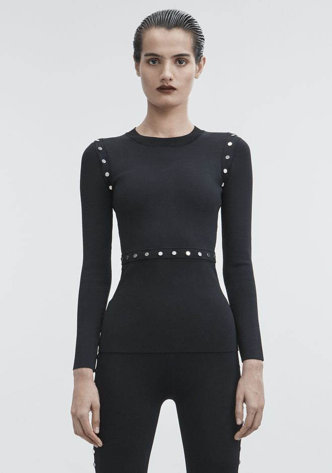 ALEXANDER WANG knitwear-ready-to-wear-woman SNAP PULLOVER