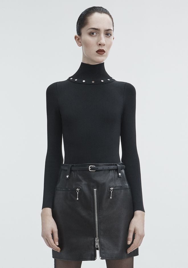 ALEXANDER WANG TOPS Women SNAP TURTLENECK
