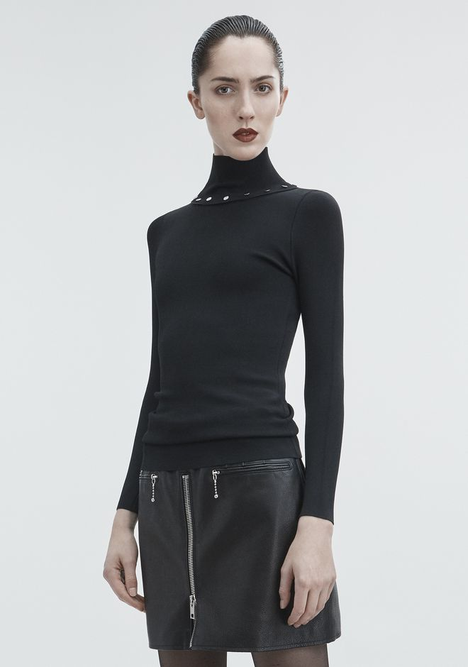 ALEXANDER WANG SNAP TURTLENECK TOP Adult 12_n_a