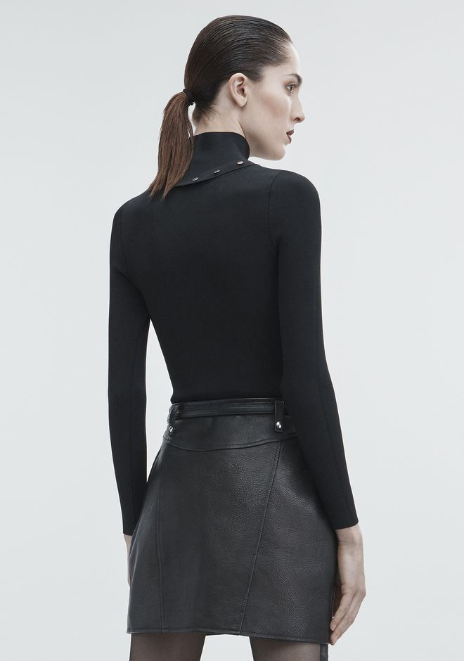 ALEXANDER WANG SNAP TURTLENECK TOP Adult 12_n_d