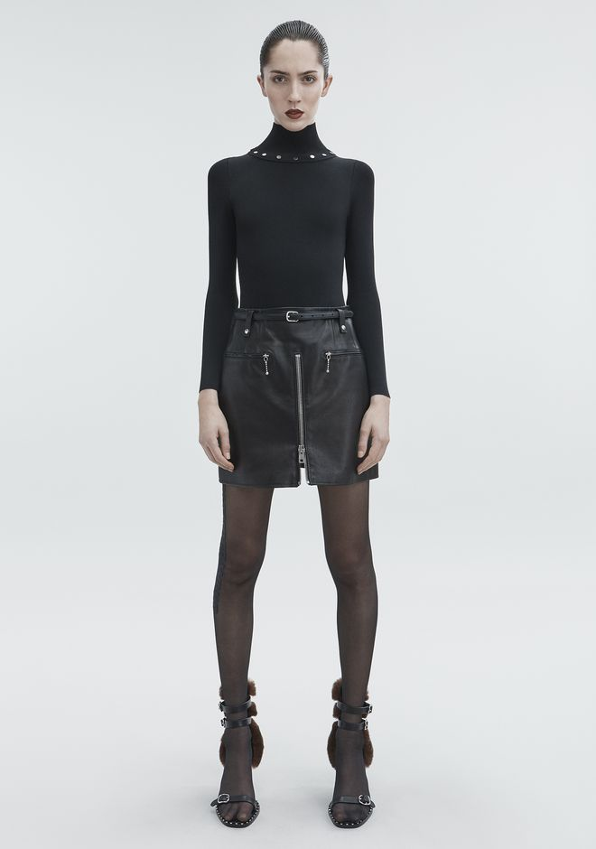 ALEXANDER WANG SNAP TURTLENECK TOP Adult 12_n_f