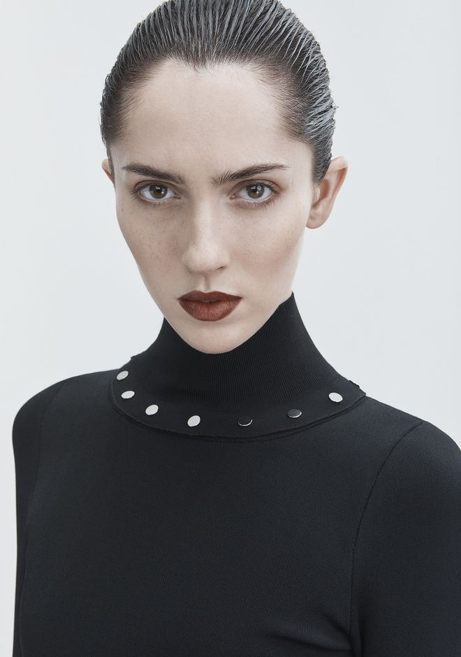 ALEXANDER WANG SNAP TURTLENECK TOP Adult 12_n_r