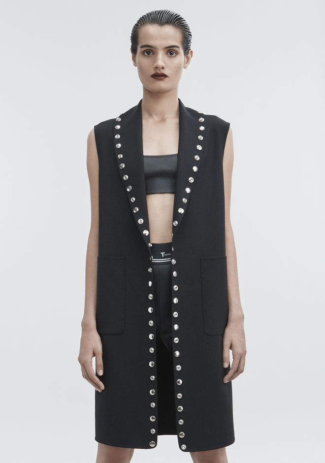 ALEXANDER WANG SNAP VEST JACKETS AND OUTERWEAR  Adult 12_n_a