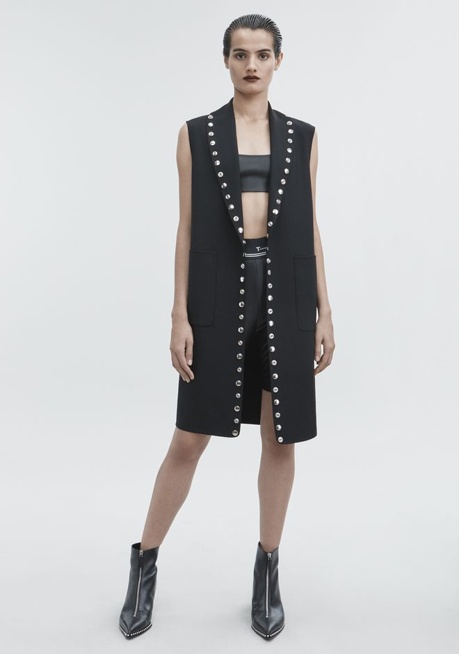 ALEXANDER WANG SNAP VEST JACKETS AND OUTERWEAR  Adult 12_n_f