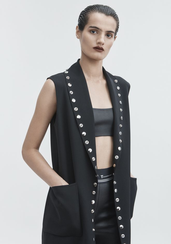 ALEXANDER WANG SNAP VEST JACKETS AND OUTERWEAR  Adult 12_n_r
