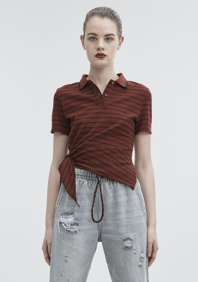 T by ALEXANDER WANG TOPS SIDE KNOT POLO