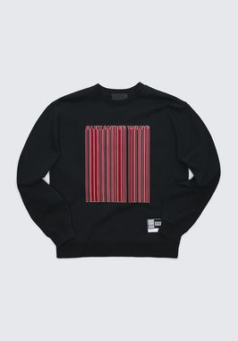 LONG SLEEVE CREW NECK BARCODE SWEATSHIRT