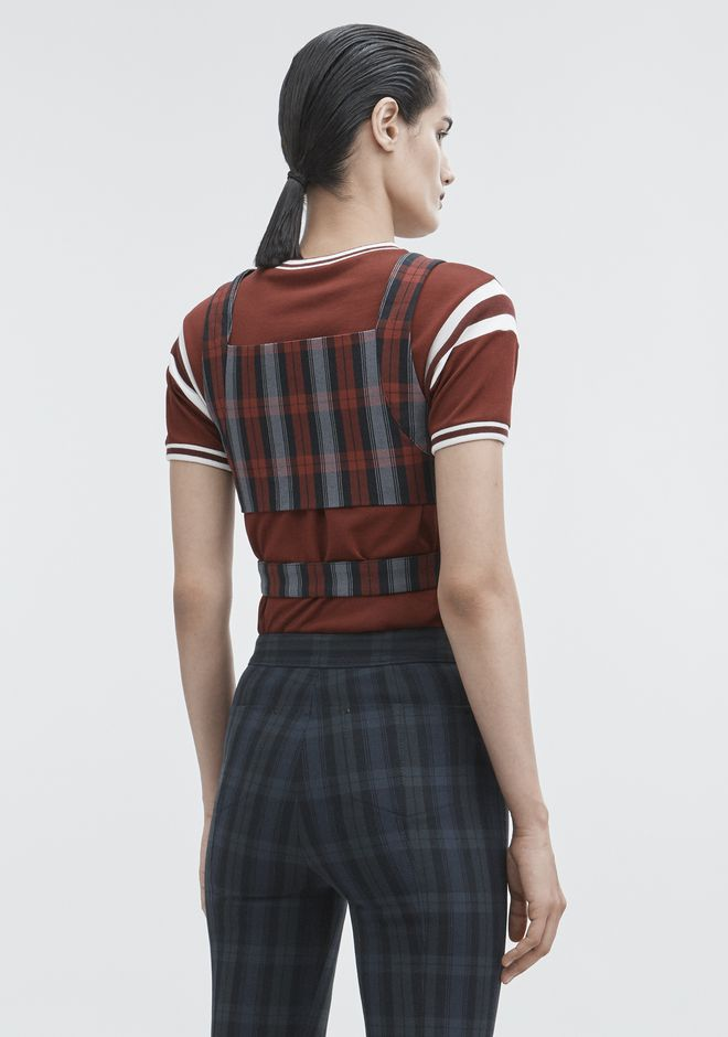 T by ALEXANDER WANG PLAID CROP TOP TOP Adult 12_n_d