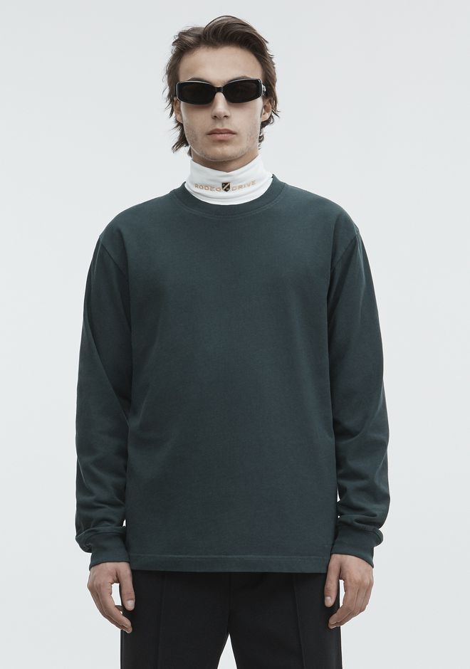ALEXANDER WANG LONG SLEEVE CREWNECK TEE TOPS Adult 12_n_d