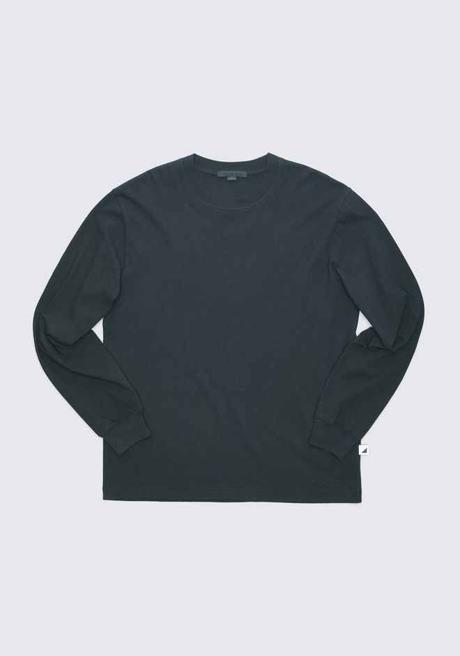 ALEXANDER WANG LONG SLEEVE CREWNECK TEE TOPS Adult 12_n_e