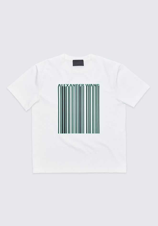 ALEXANDER WANG mens-new-apparel BARCODE CREWNECK TEE