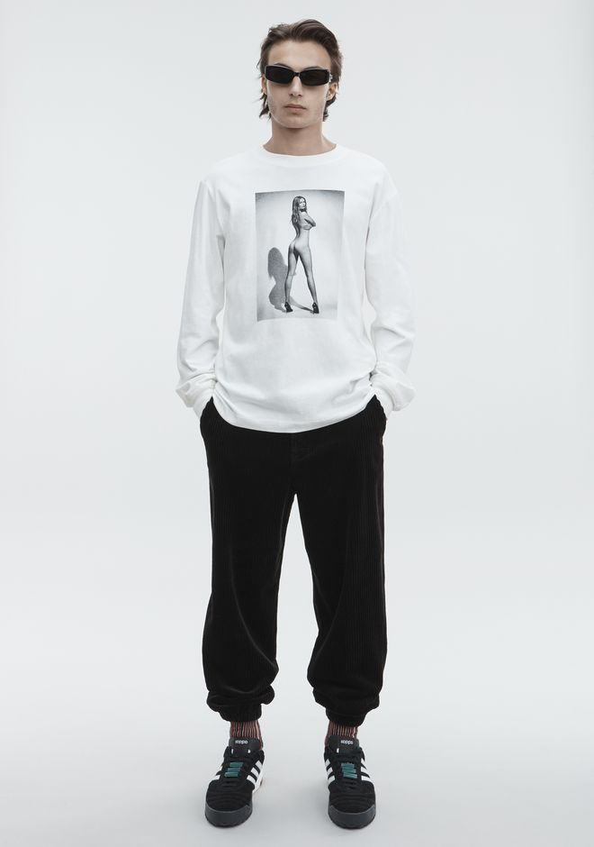 ALEXANDER WANG LONG SLEEVE ANNA EWERS TEE TOP Adult 12_n_f