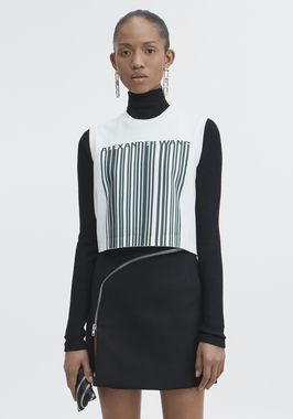 BARCODE CROPPED TOP