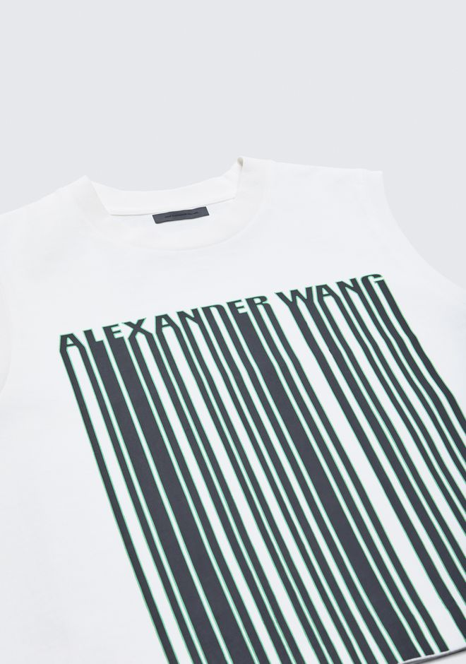 ALEXANDER WANG BARCODE CROPPED TOP TOP Adult 12_n_a