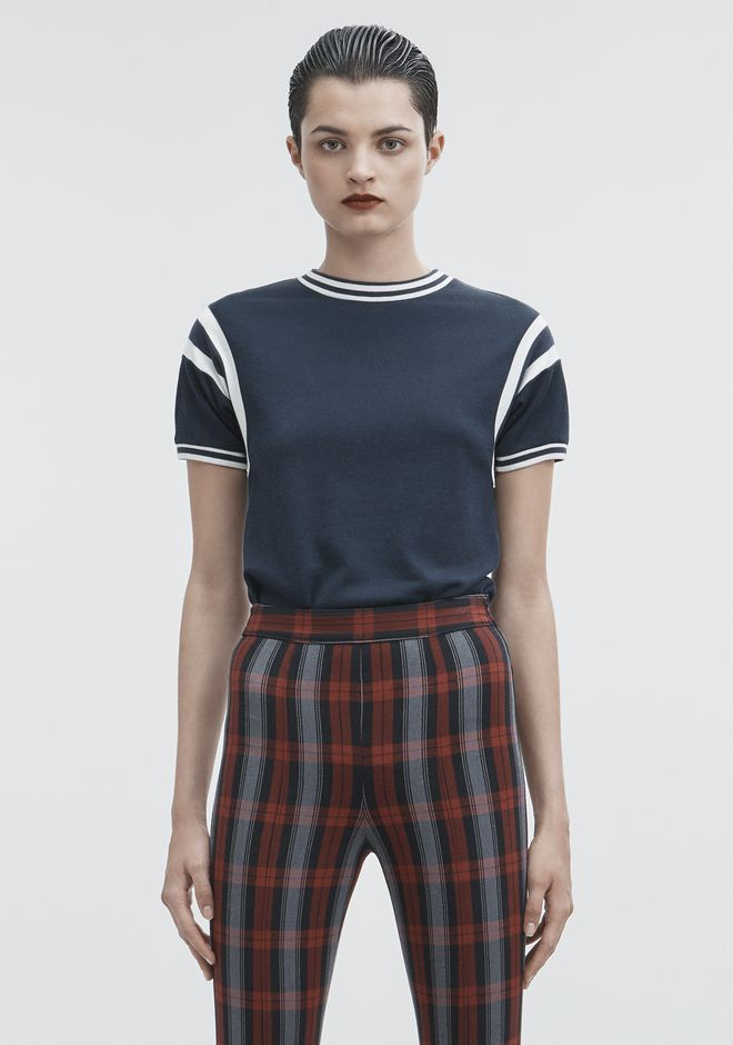 T by ALEXANDER WANG TOPS PLAITED JERSEY TOP