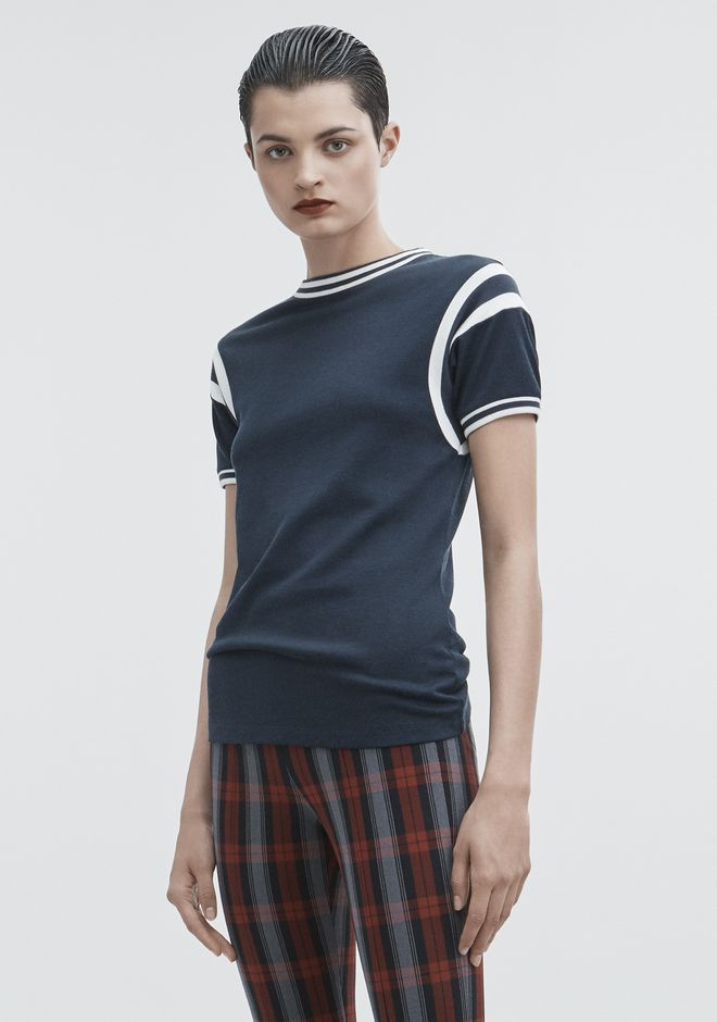 T by ALEXANDER WANG PLAITED JERSEY TOP TOP Adult 12_n_a