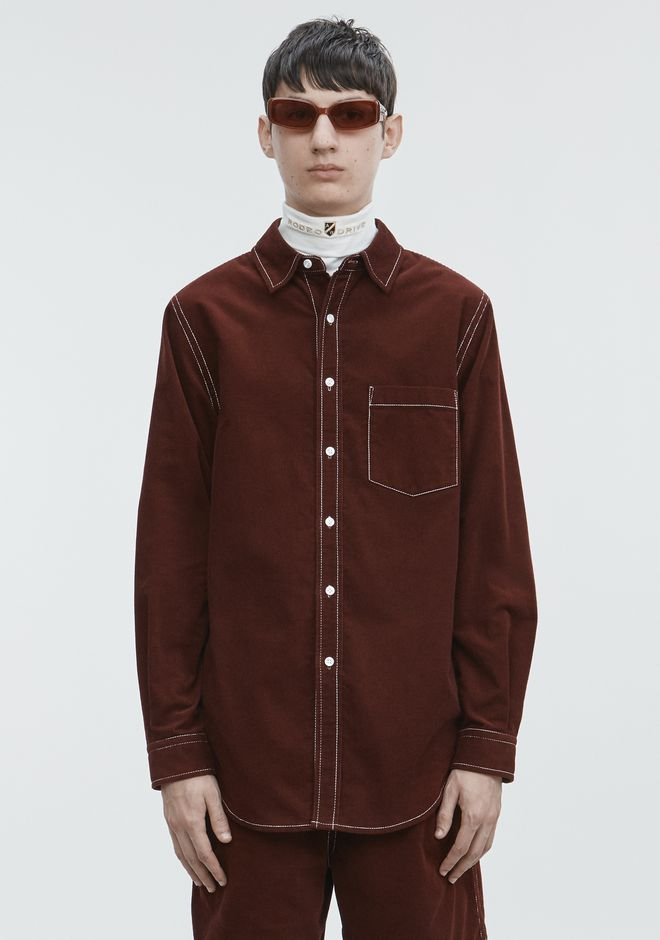 ALEXANDER WANG SHIRTS Men CORDUROY SHIRT