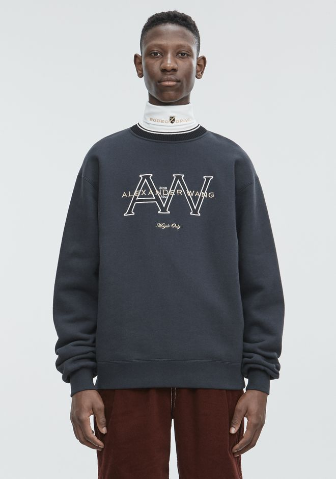 ALEXANDER WANG TOPS Men AW MONOGRAM SWEATSHIRT
