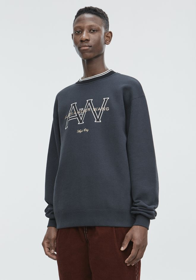 ALEXANDER WANG AW MONOGRAM SWEATSHIRT TOP Adult 12_n_a