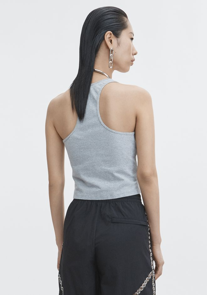 T by ALEXANDER WANG COMPACT JERSEY FRONT TWIST CROP TOP TOP Adult 12_n_d