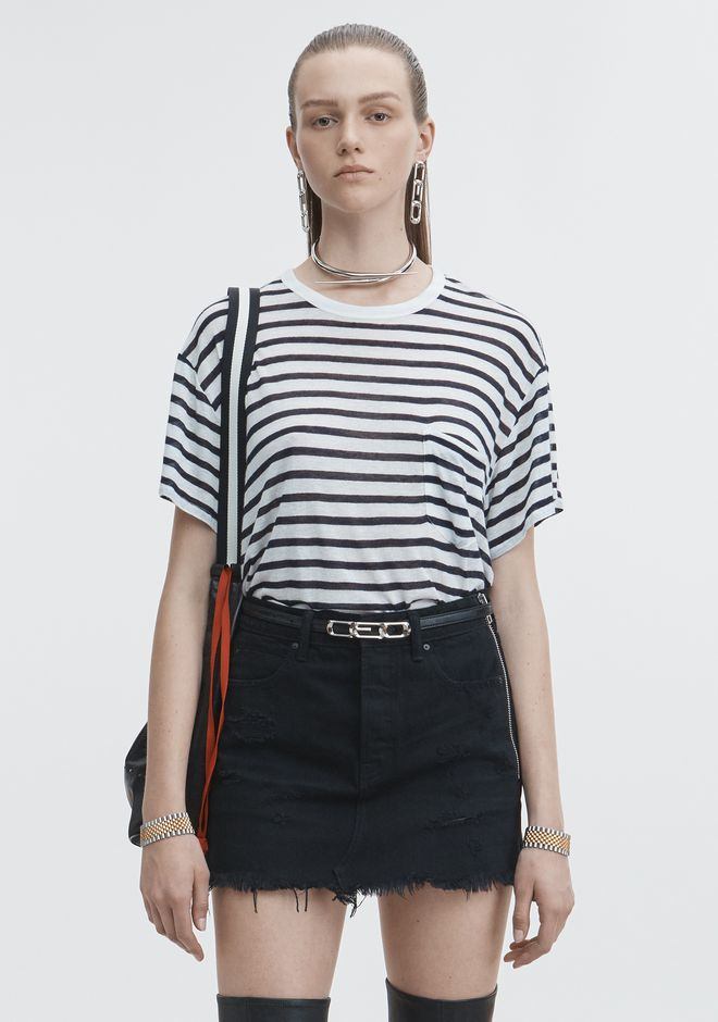T by ALEXANDER WANG TOPS SLUB JERSEY POCKET TEE