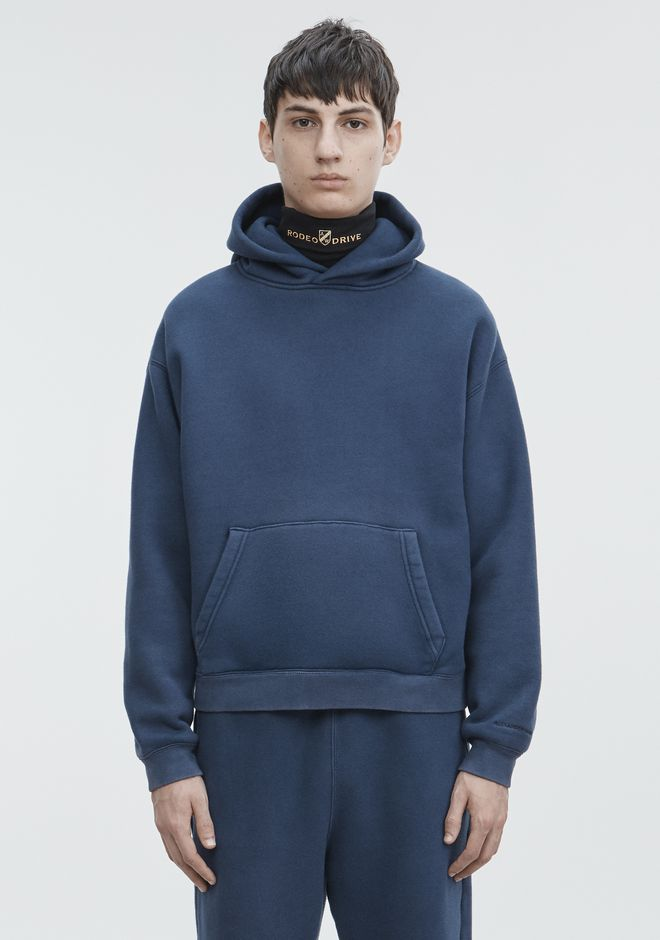 ALEXANDER WANG mens-new-apparel HOODED PULLOVER SWEATSHIRT