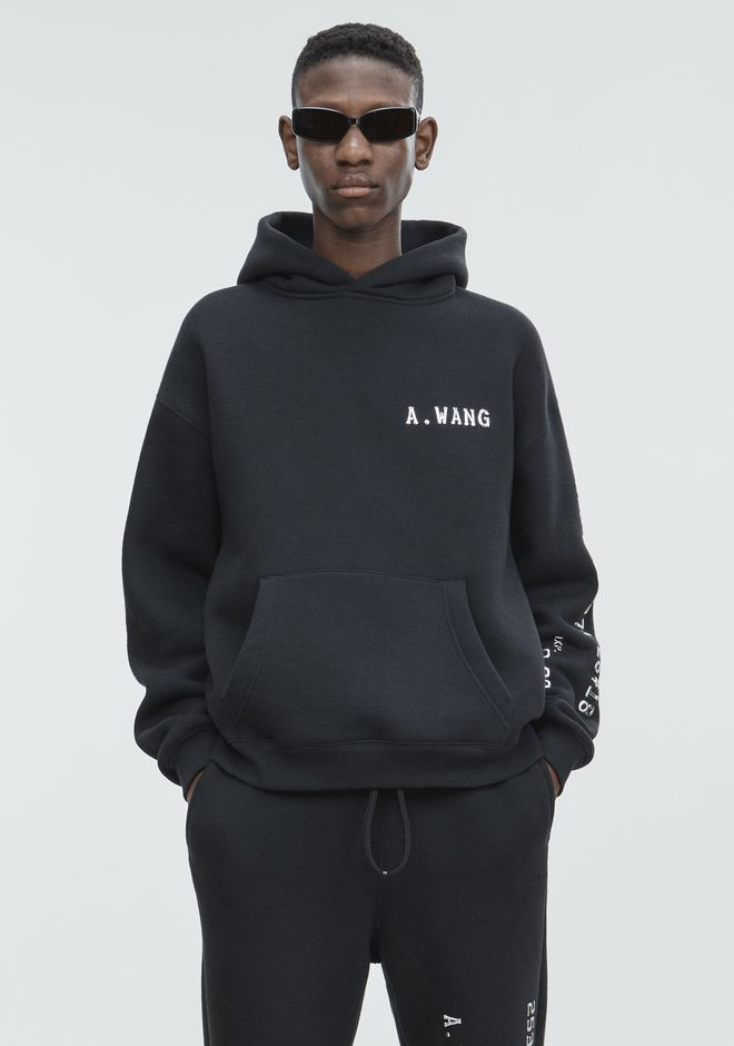 ALEXANDER WANG HOODED SWEATSHIRT WITH CREDIT CARD DECALS TOP Adult 12_n_d