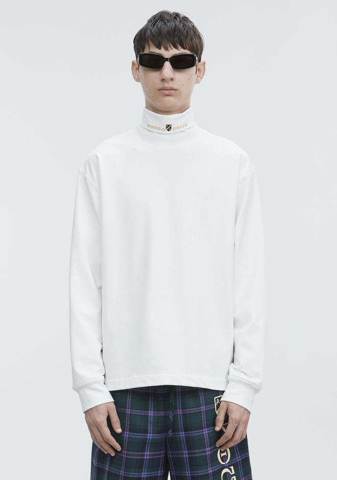 ALEXANDER WANG TOPS Men JERSEY LONG SLEEVE TURTLENECK
