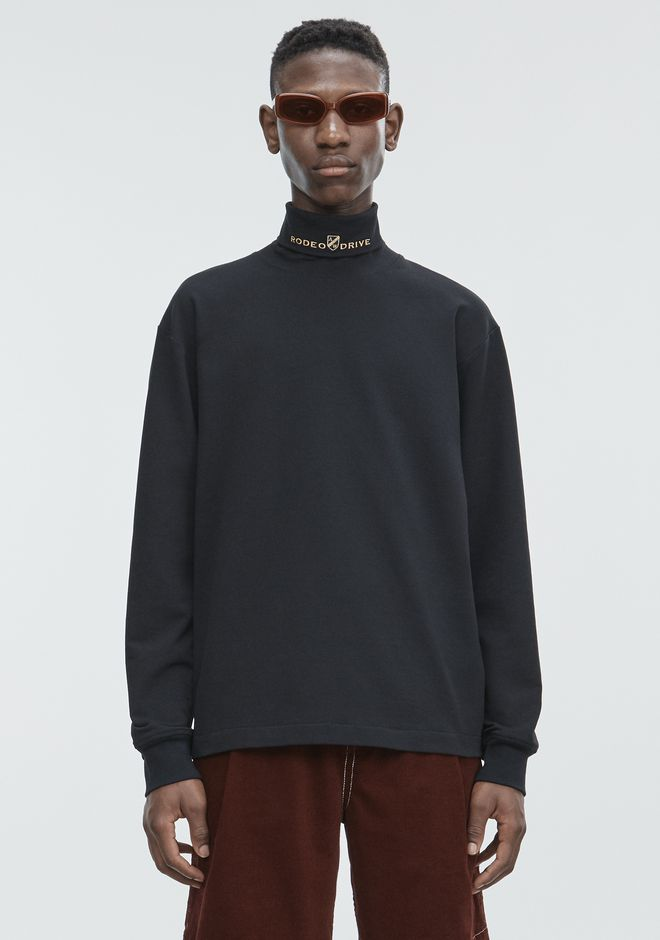 ALEXANDER WANG mens-new-apparel JERSEY LONG SLEEVE TURTLENECK