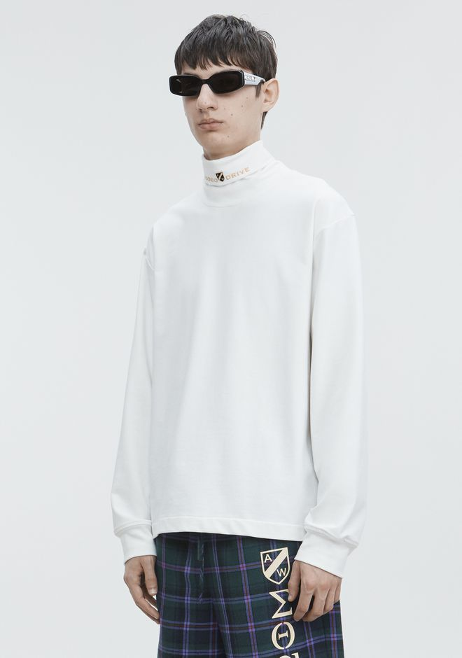 ALEXANDER WANG JERSEY LONG SLEEVE TURTLENECK TOP Adult 12_n_a