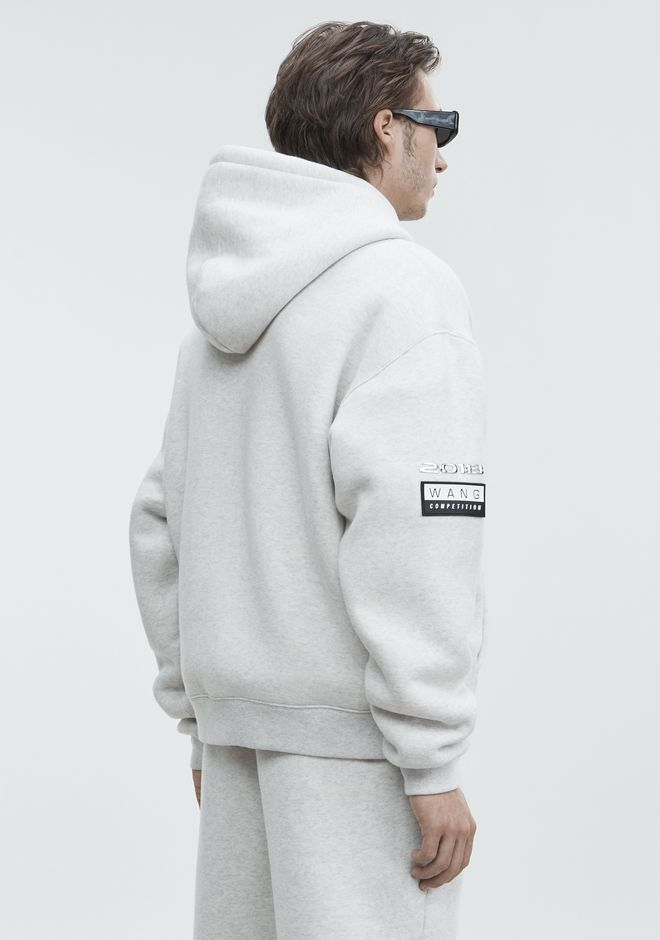 ALEXANDER WANG PLATINUM ZIP-UP HOODIE TOP Adult 12_n_d