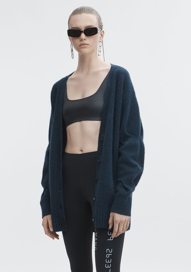 T by ALEXANDER WANG CHUNKY WOOL CARDIGAN TOP Adult 12_n_a
