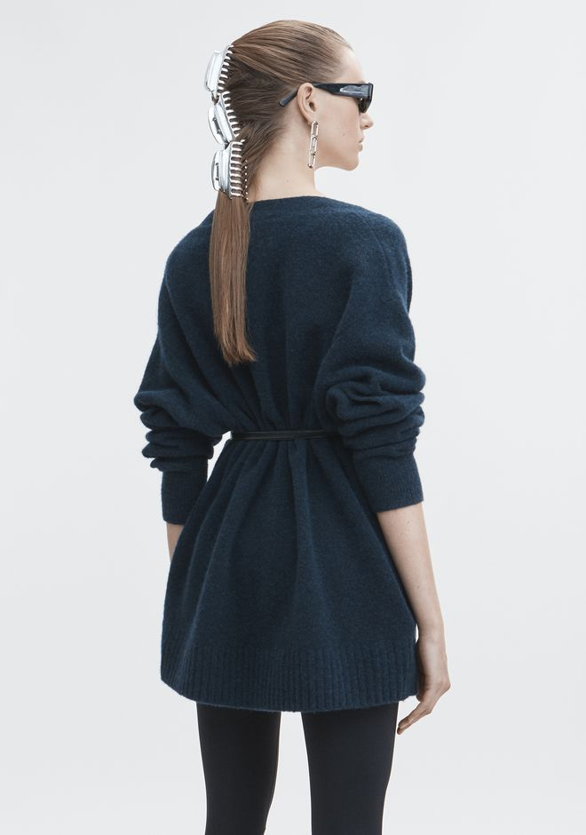 T by ALEXANDER WANG CHUNKY WOOL CARDIGAN TOP Adult 12_n_d