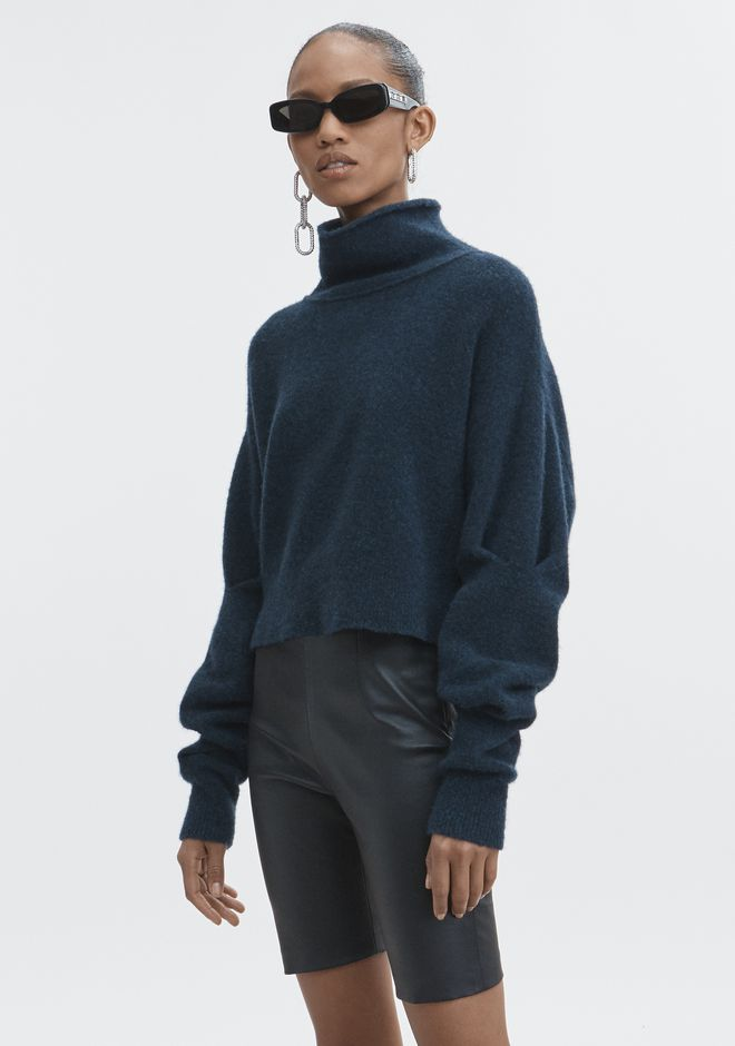 T by ALEXANDER WANG CHUNKY WOOL CROPPED TURTLENECK  TOPS Adult 12_n_a