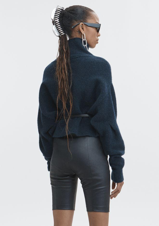 T by ALEXANDER WANG CHUNKY WOOL CROPPED TURTLENECK  TOP Adult 12_n_d