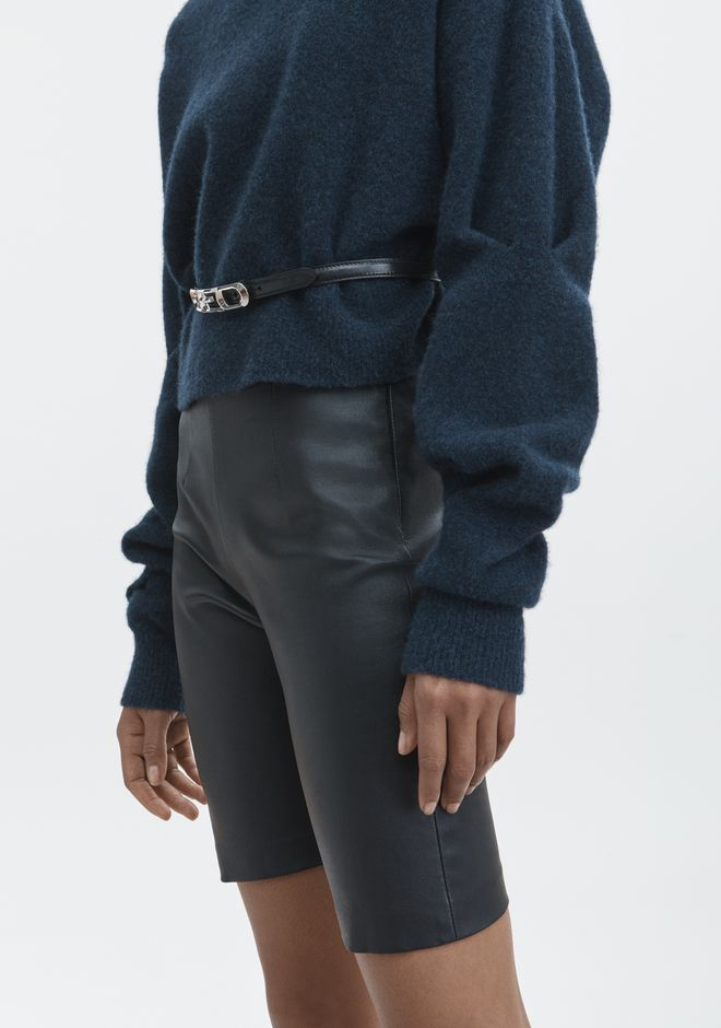 T by ALEXANDER WANG CHUNKY WOOL CROPPED TURTLENECK  TOPS Adult 12_n_r