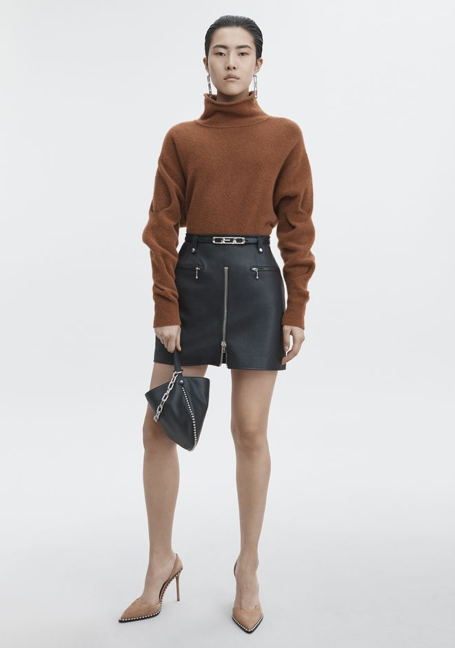 T by ALEXANDER WANG CHUNKY WOOL CROPPED TURTLENECK  TOP Adult 12_n_f