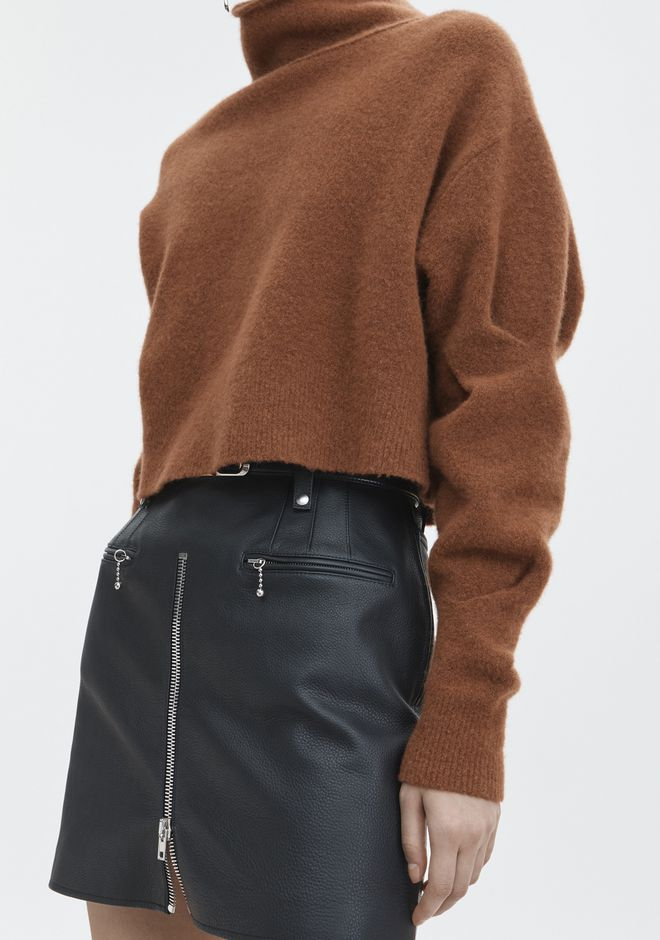 T by ALEXANDER WANG CHUNKY WOOL CROPPED TURTLENECK  TOP Adult 12_n_r