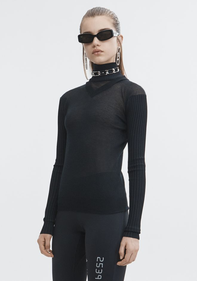 ALEXANDER WANG MULTI NECKLINE TURTLENECK TOP Adult 12_n_a