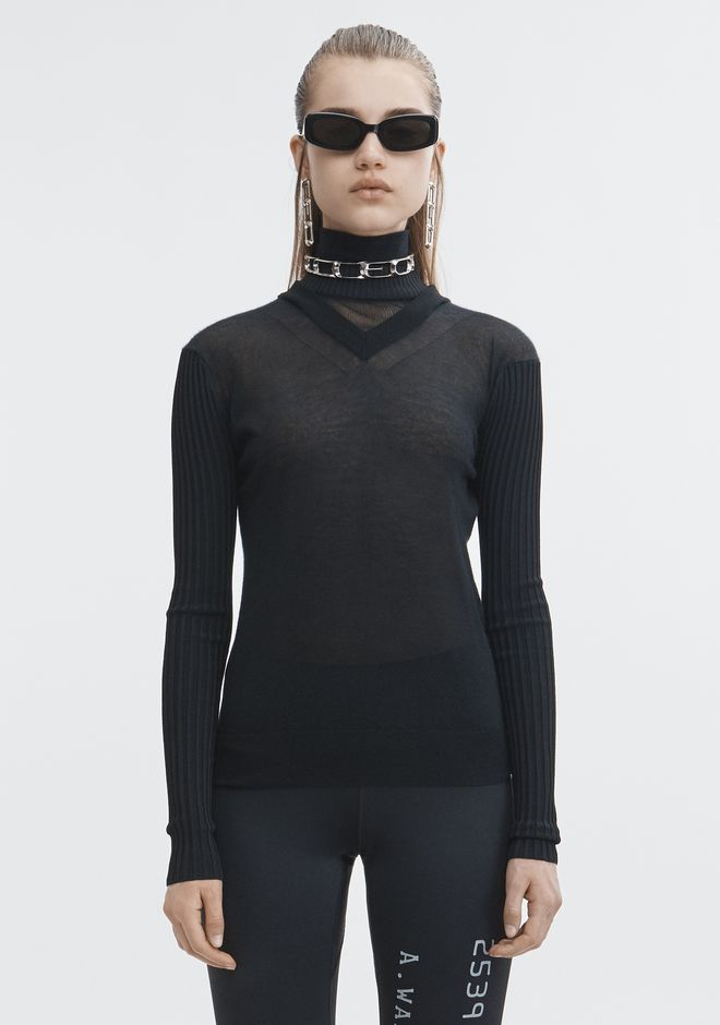 ALEXANDER WANG MULTI NECKLINE TURTLENECK TOP Adult 12_n_e