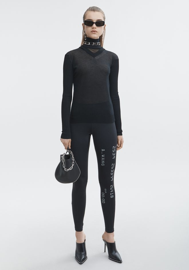 ALEXANDER WANG MULTI NECKLINE TURTLENECK TOP Adult 12_n_f