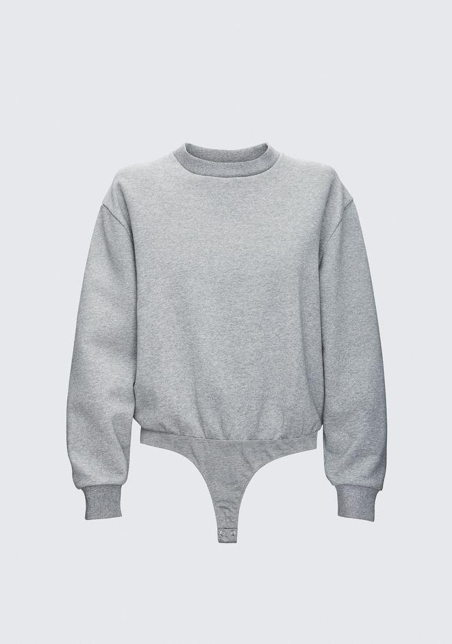 T by ALEXANDER WANG SWEATSHIRT BODYSUIT PULL Adult 12_n_d