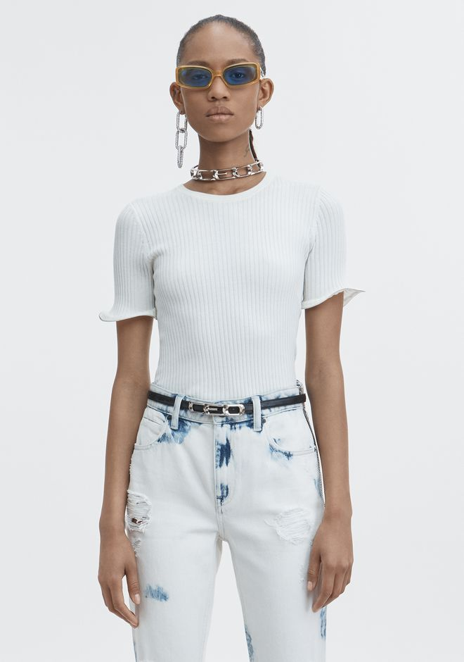 ALEXANDER WANG new-arrivals-ready-to-wear-woman ZIPPER HEM TEE