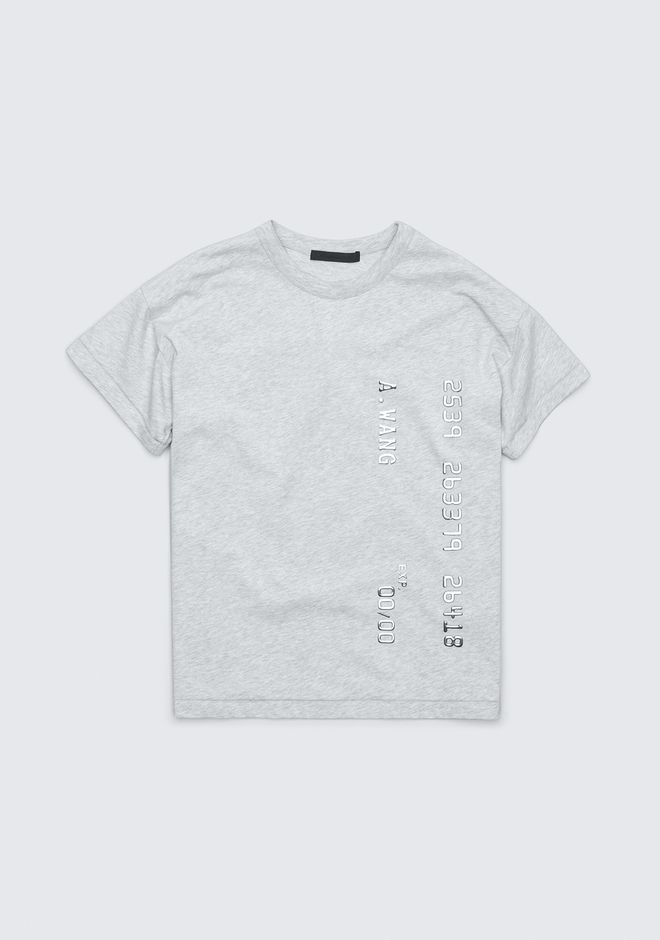 ALEXANDER WANG CREDIT CARD T-SHIRT TOP Adult 12_n_r