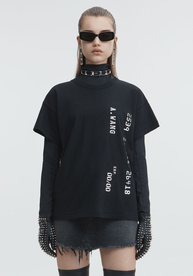 ALEXANDER WANG CREDIT CARD T-SHIRT TOP Adult 12_n_e