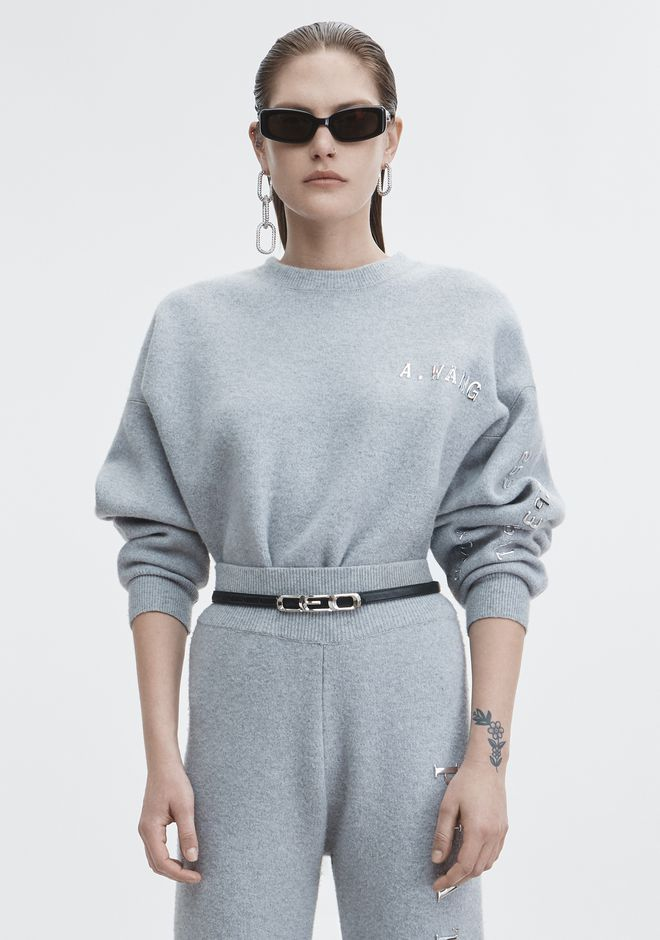 ALEXANDER WANG strickwaren-ready-to-wear-damenbekleidung PLATINUM PULLOVER